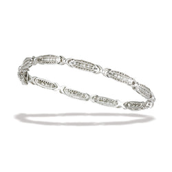 10k White Gold and Diamond Bracelet 7""