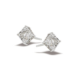 10k White Gold and Diamond Stud Earrings