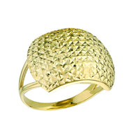 10k Yellow Gold Diamond Cut Ring