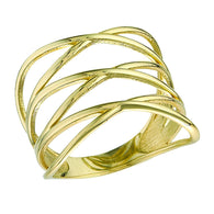 10k Gold Geometric Ring