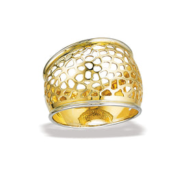 10k Yellow Gold Fashion Two Tone Ring