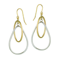 10k Gold Teardrop Hoop Earrings