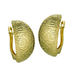 10k Yellow Gold Crescent Earrings