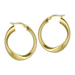 10k Yellow Gold Ring Hoop Earrings