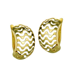 10k Yellow Gold Wavy Earrings