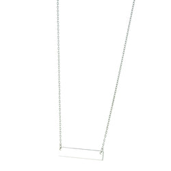 Sterling Silver Engravable Necklace