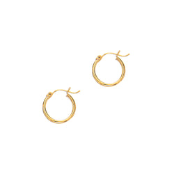 14k Gold Hoop Earrings 2.0x20mm