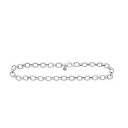 Sterling Silver Link Necklace 18""
