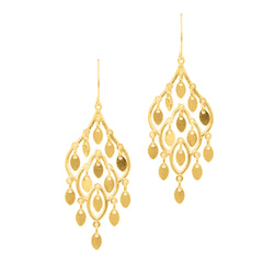 10k Gold Chandelier Earrings High Polish