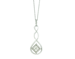 10k White Gold Diamond Necklace
