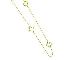 10k Yellow Gold Clover Necklace