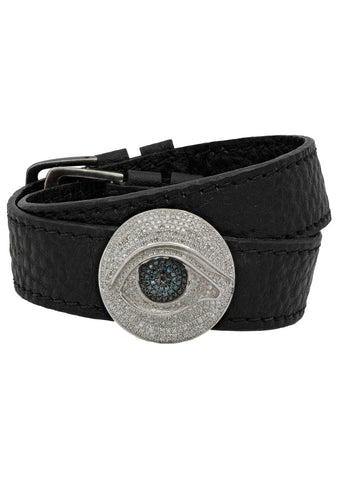 Big Thirdeye Leather Choker
