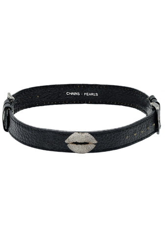 Medium Bliss Kiss Leather Choker