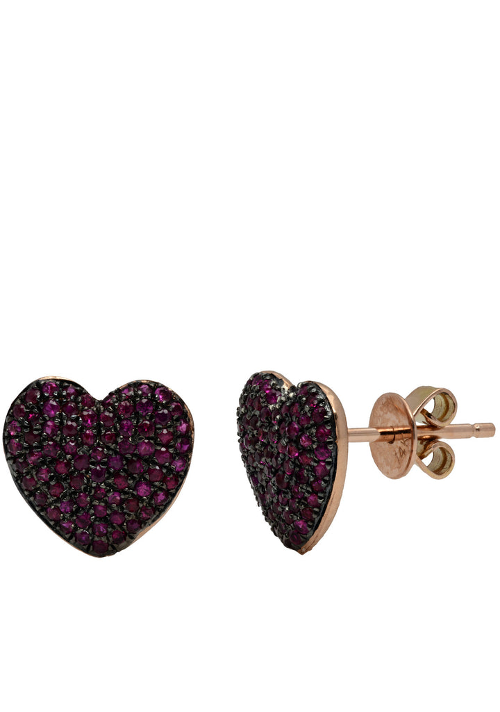 Bliss Heart studs