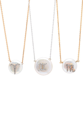 Initial Perla Necklace