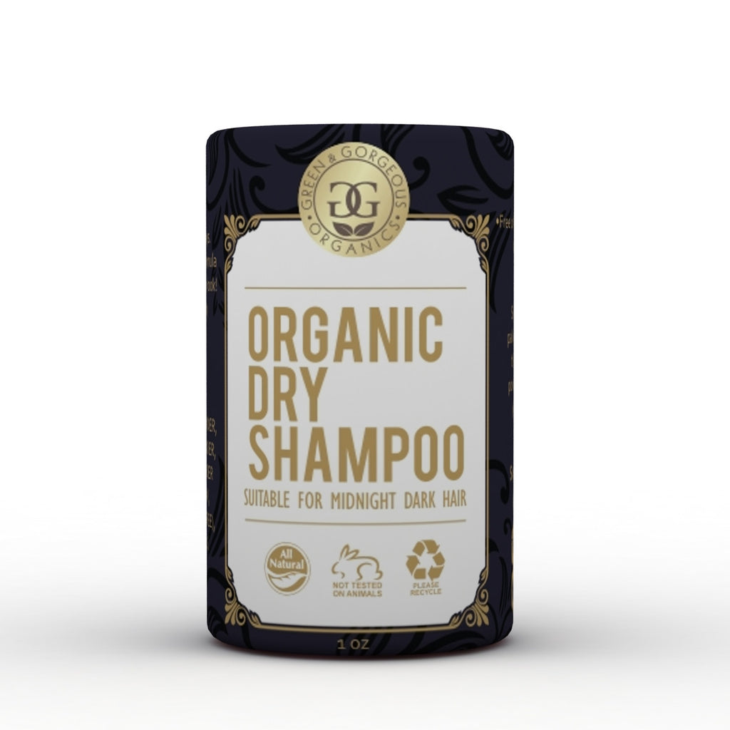 Organic Natural Dry Shampoo Powder for Dark Brown and Oily Hair - Travel Size