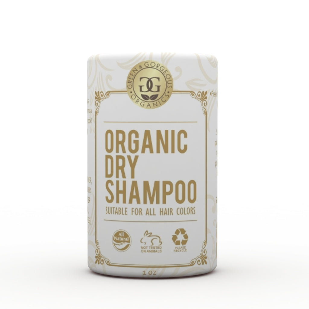 Organic Natural Dry Shampoo Powder for All and Oily Hair Types- Travel Size