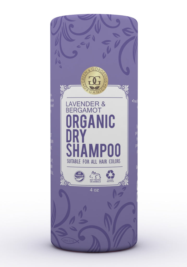 Organic Dry Shampoo Powder Lavender and Bergamot - Travel Size
