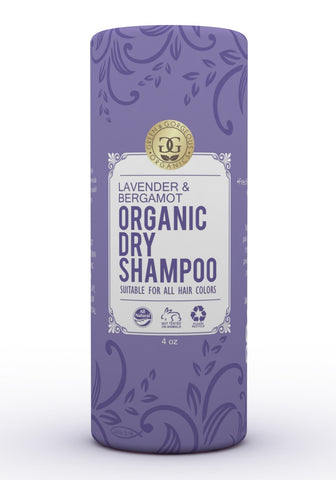 Organic Natural Dry Shampoo Powder for All and Oily Hair Types - Lavender and Bergamot