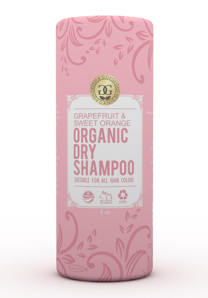 Organic Dry Shampoo Powder Grapefruit and Sweet Orange - Travel Size