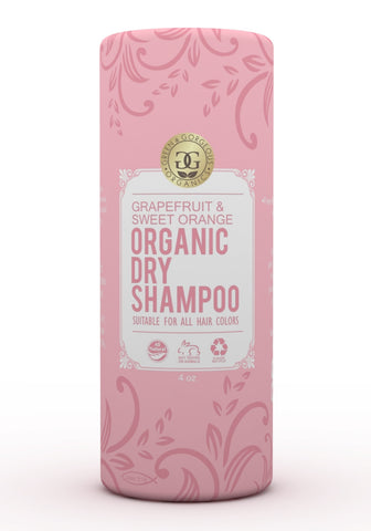Organic Natural Dry Shampoo Powder for All and Oily Hair Types - Grapefruit and Sweet Orange
