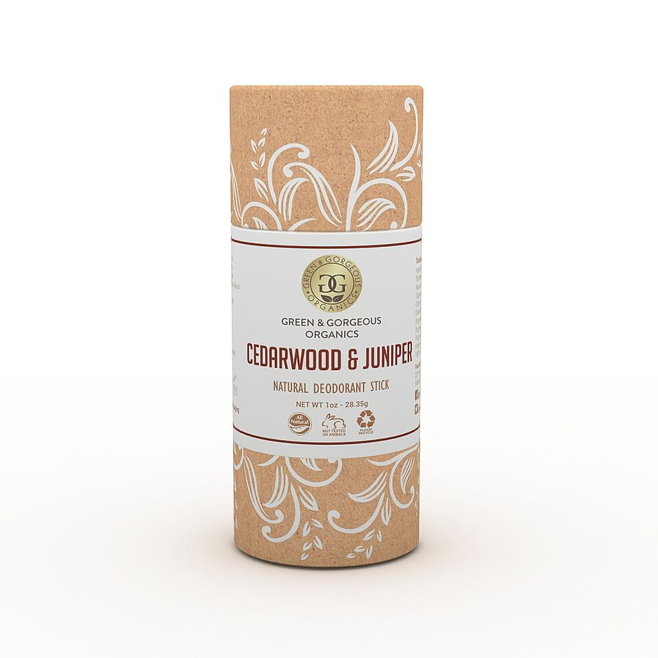 Organic Natural Deodorant Stick - Cedarwood & Juniper