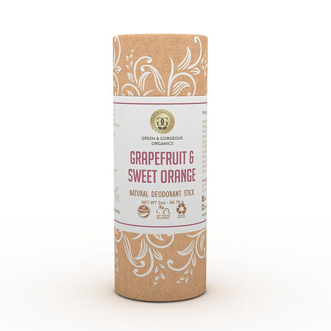 Organic Natural Deodorant Stick - Grapefruit & Sweet Orange