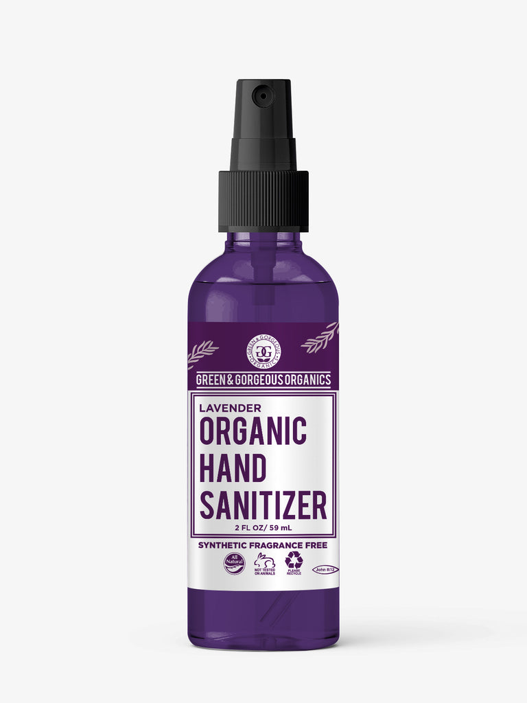 Organic Hand Sanitzer Spray 6 Pack - Lavender