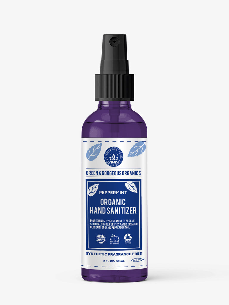 Organic Hand Sanitizer Spray- Peppermint