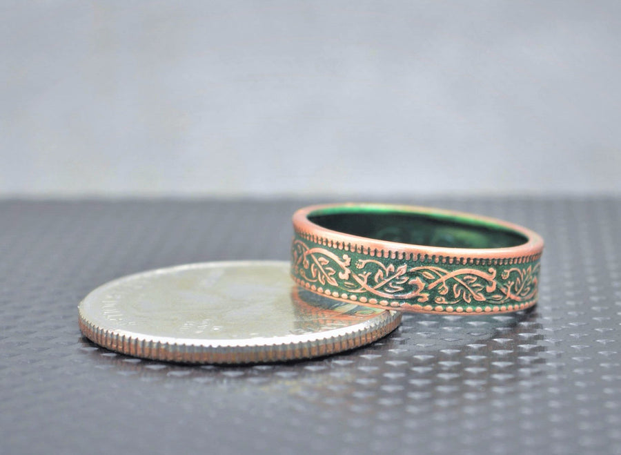 India-British Coin Ring