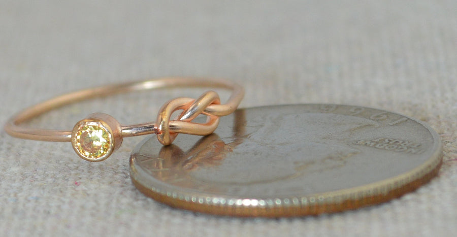 Rose Gold Filled Topaz Infinity Ring