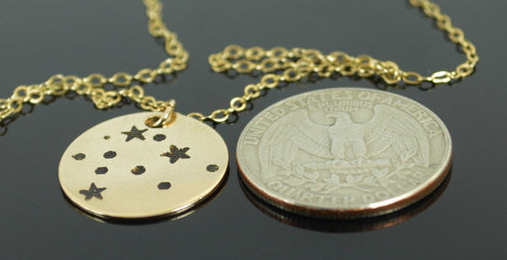 Gold Filled Aquarius Necklace