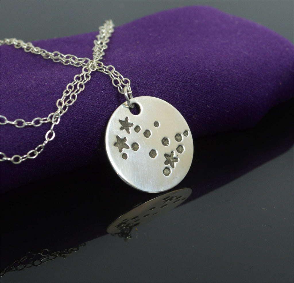 Sterling Silver Gemini Necklace