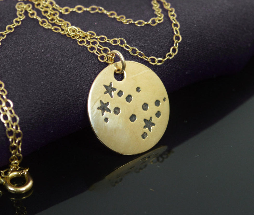 Gold Gemini Necklace