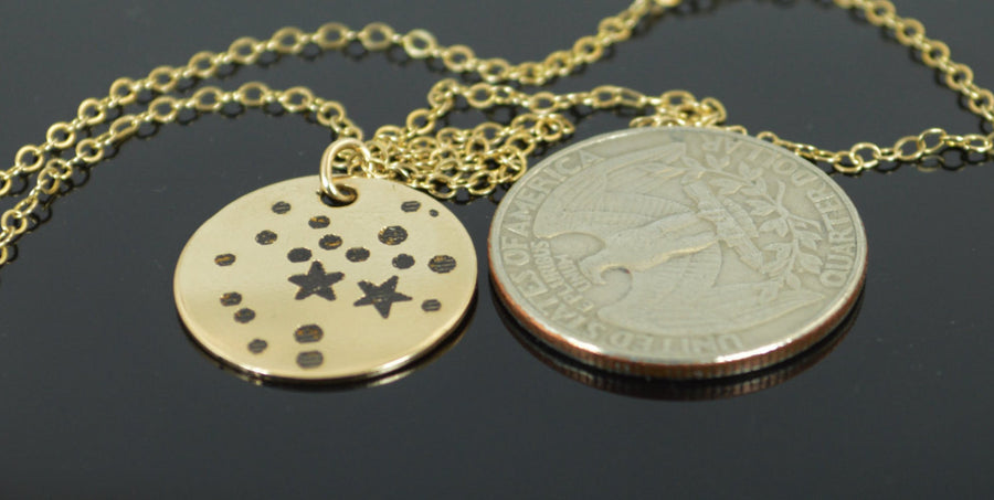 Gold Filled Sagittarius Necklace