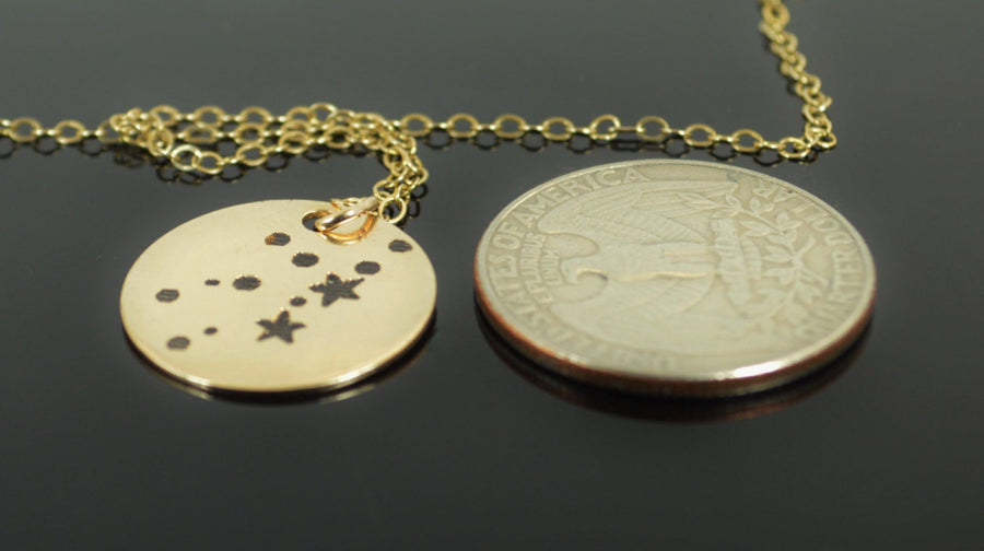 Gold Filled Virgo Necklace