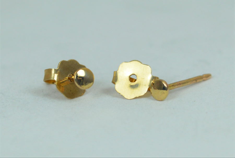 14k Gold Filled Tiny Dot Earrings