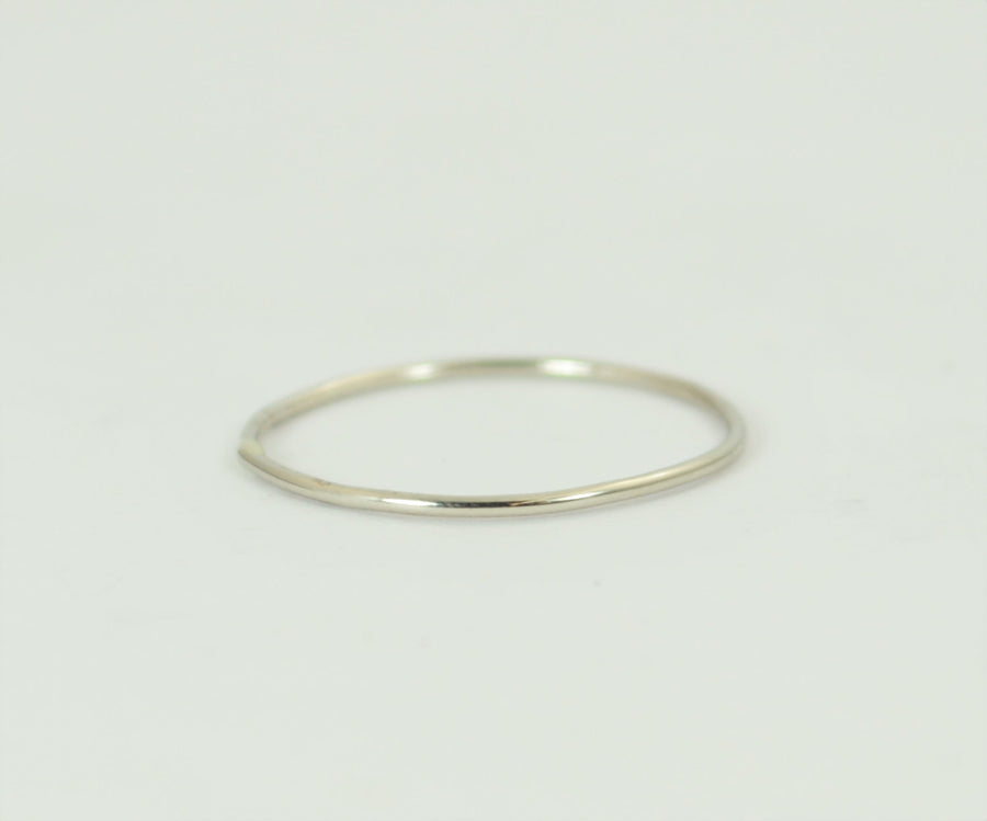 Solid 14k White Gold Super Thin Stacking Ring