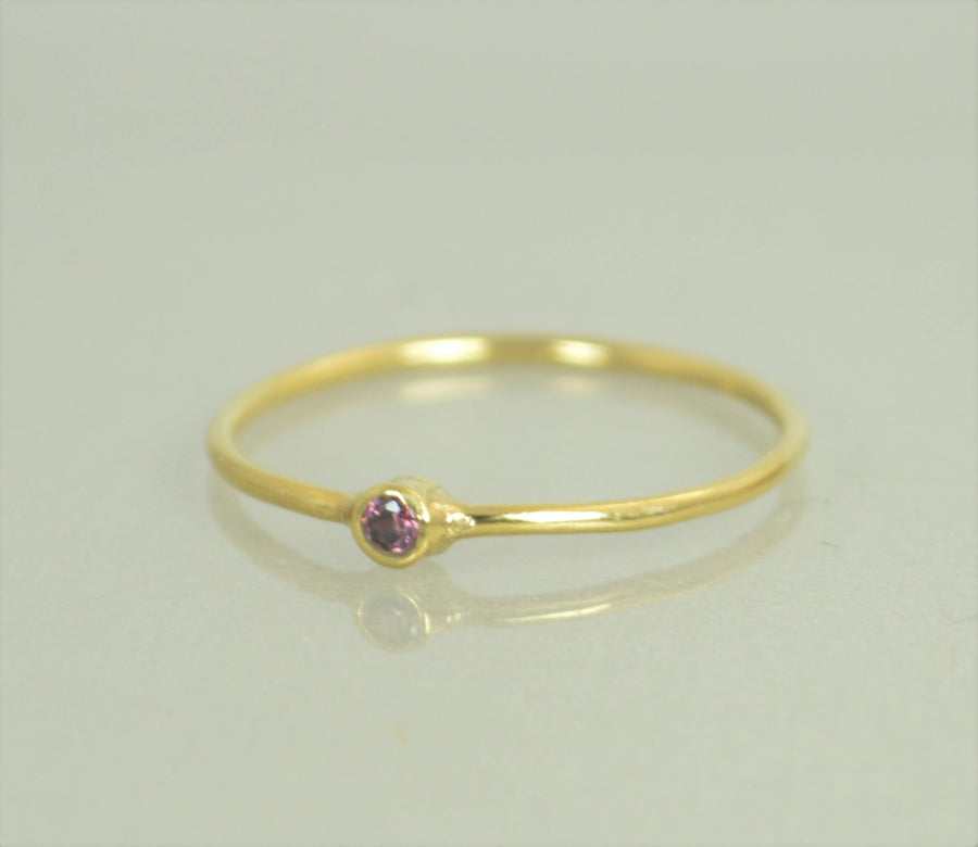 Tiny Solid 14k Gold Alexandrite Ring