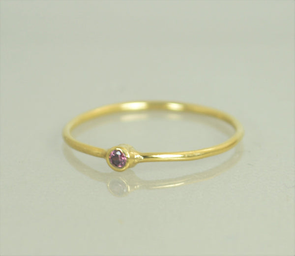 Tiny Gold Alexandrite Ring