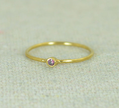 Tiny Gold Filled Alexandrite Ring