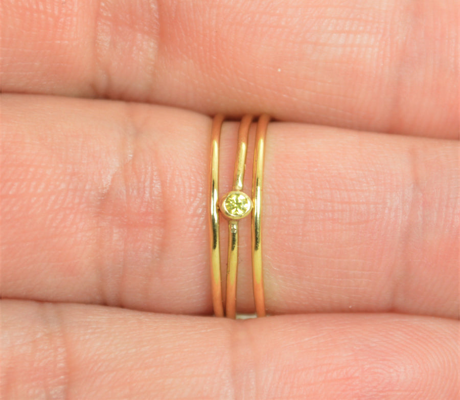 Tiny Gold Filled Topaz Ring