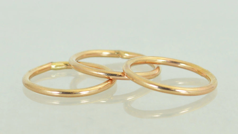 Round Classic Rose Gold Filled Stackable Rings