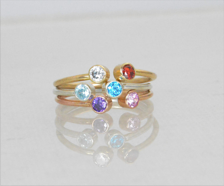 Rose Gold Dual Stone Ring