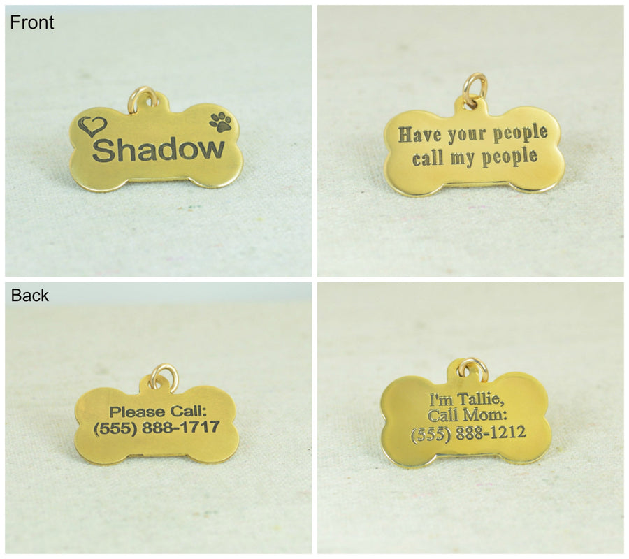 Large Dog Bone Dog Tag