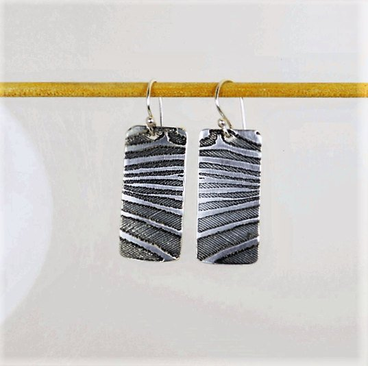 Silver Zebra Earrings