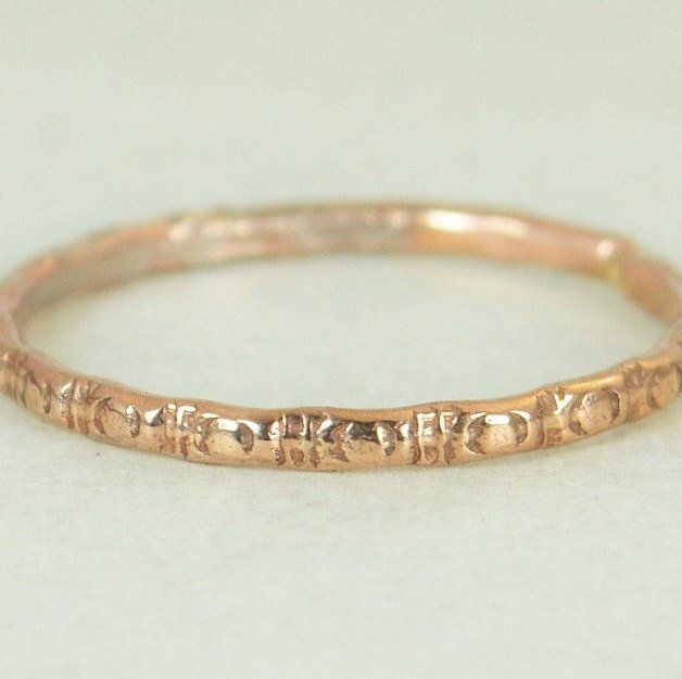 14k Rose Gold Ripple Wedding Ring - G5