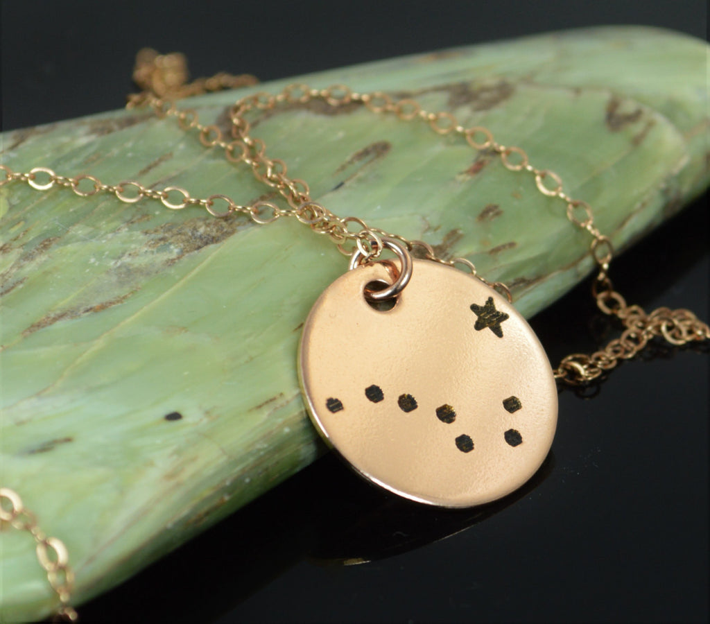 Rose Gold Big Dipper Necklace