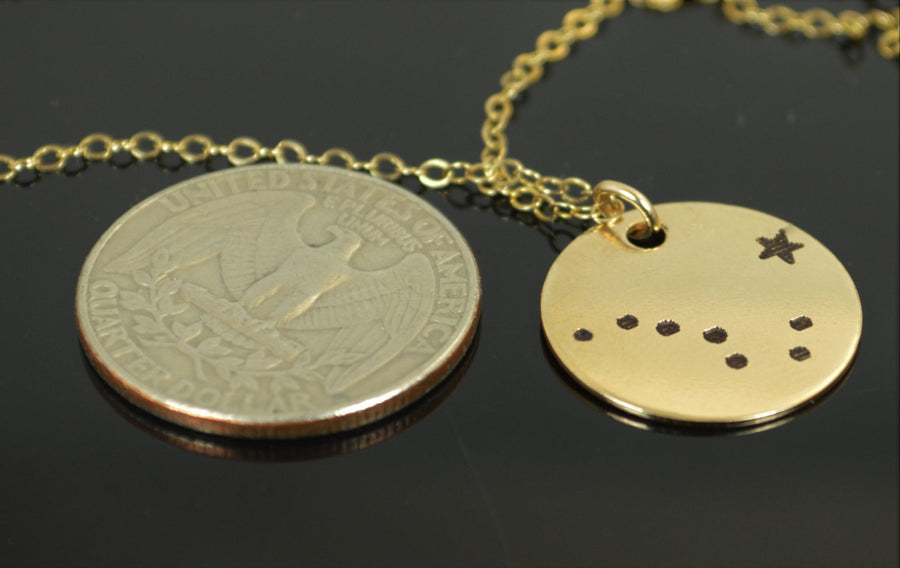 Gold Big Dipper Necklace