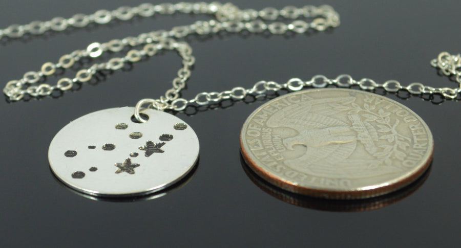Sterling Silver Virgo Necklace